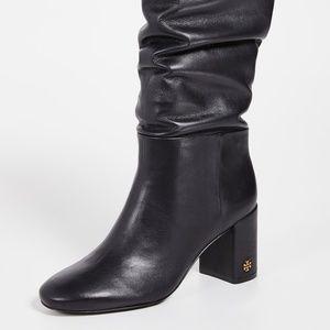 NWT NIB Tory Burch BROOKE Slouchy Black High Boot